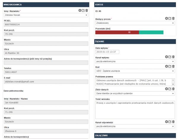 Prosta i szybka rejestracja żądania podmiotu danych w programie RODOprotektor