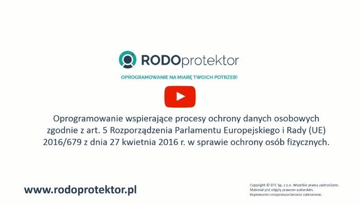 RODO - program do zarządzania danymi osobowymi RODOprotektor - instrukcja działania