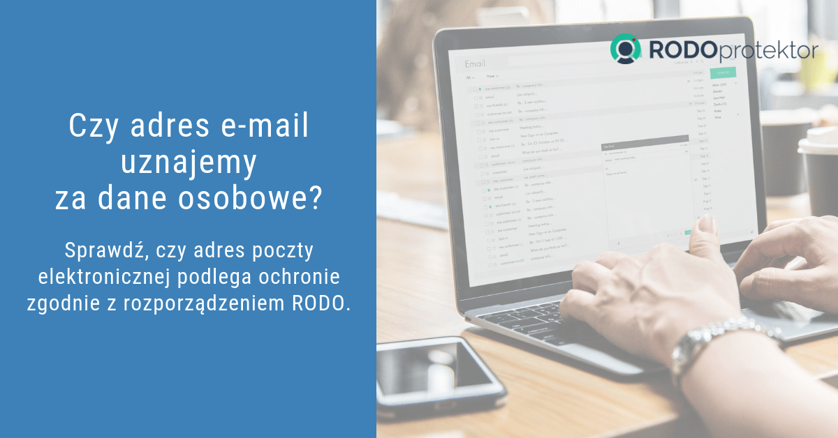 Czy adres email uznajemy za dane osobowe zgodnie z RODO