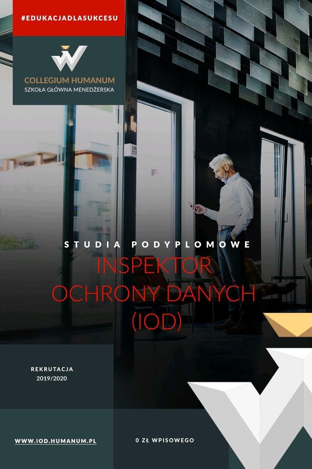 Studia podyplomowe Inspektor Ochrony Danych (IOD) Collegium Humanum Szkoła Główna Menedżerska