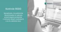 Kontrole RODO – raport z kontroli w zakresie przestrzegania przepisów o ochronie danych osobowych