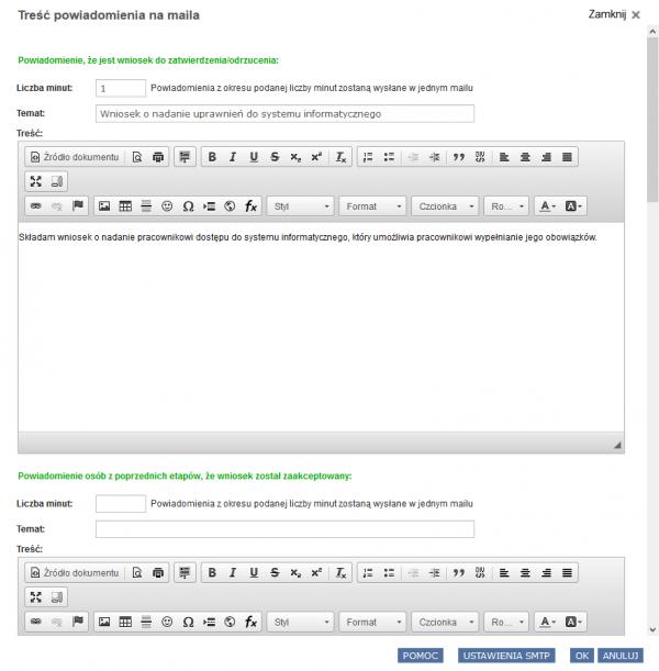 Powiadomienie e-mail w Systemie Obsługi Wniosków programu RODOprotektor